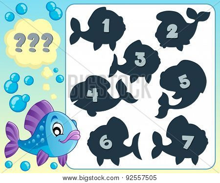 Fish riddle theme image 5 - eps10 vector illustration.