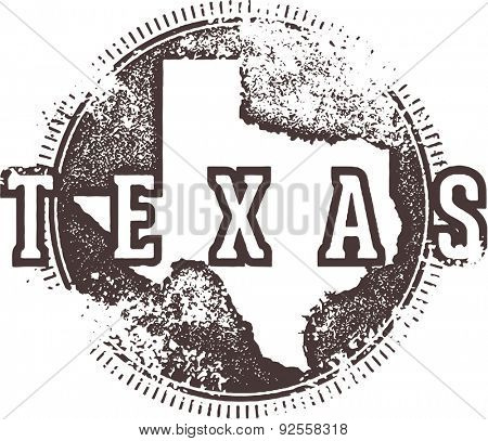 Vintage Texas USA State Stamp