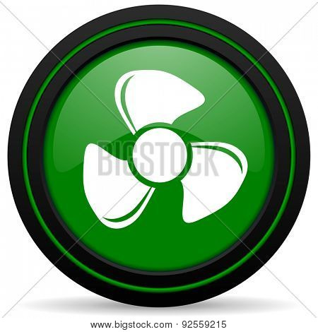fan green icon