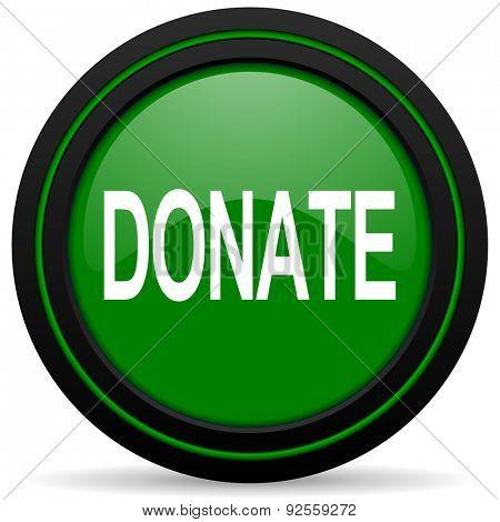 donate green icon
