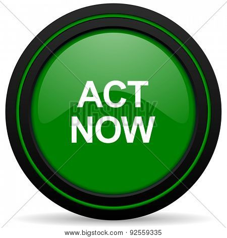 act now green icon