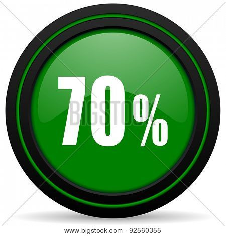 70 percent green icon sale sign