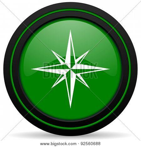 compass green icon