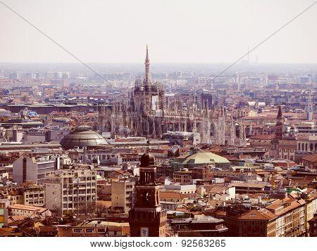 Retro Look Milan Aerial View