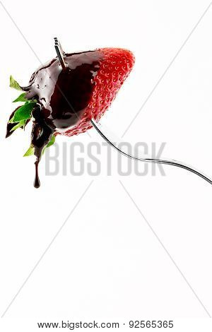 Strawberry With Liquid Chocolate