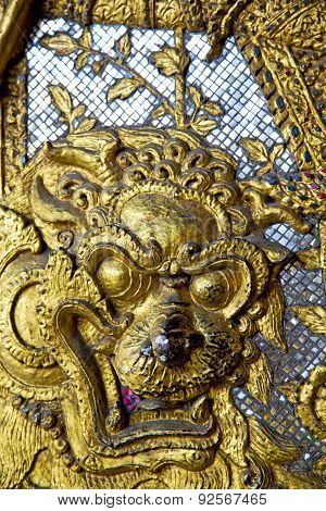 Demon In The Temple Bangkok Asia   Thailand Abstract Cross