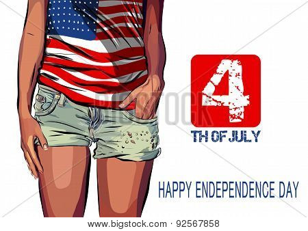 Happy independence day card United States of America. 4 th July.