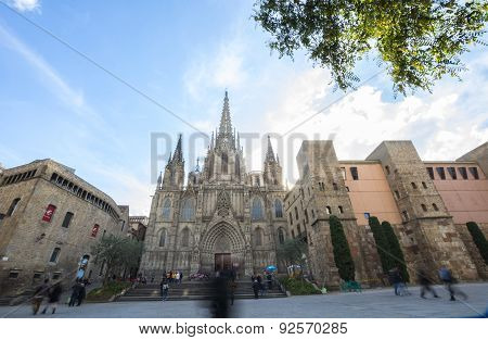 The Cathedral Of The Holy Cross And Saint Eulalia, Barcelone, Spain