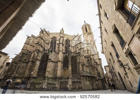 The Cathedral Of The Holy Cross And Saint Eulalia, Barcelona, Spain