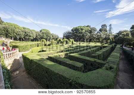 Labyrinth Park Of Horta, Barcelona, Spain