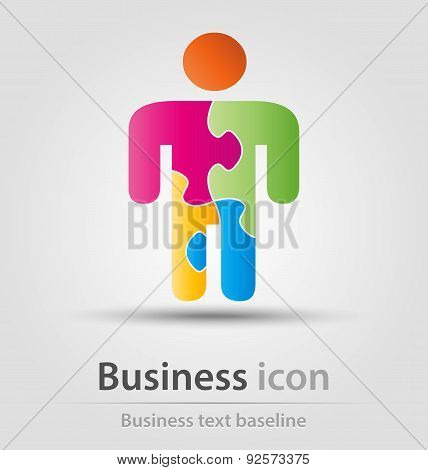 Puzzle man business Icon