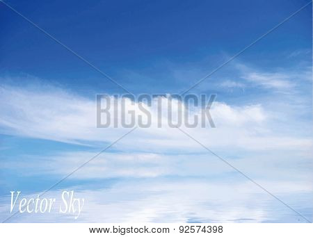 sky with clouds. Vector background.