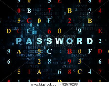 Privacy concept: Password on Digital background