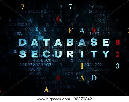 Protection concept: Database Security on Digital background