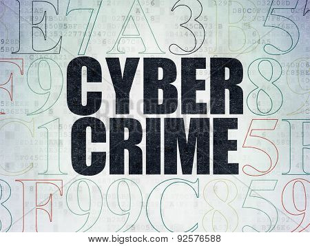 Security concept: Cyber Crime on Digital Paper background
