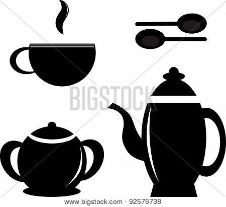 Set of tea dishware