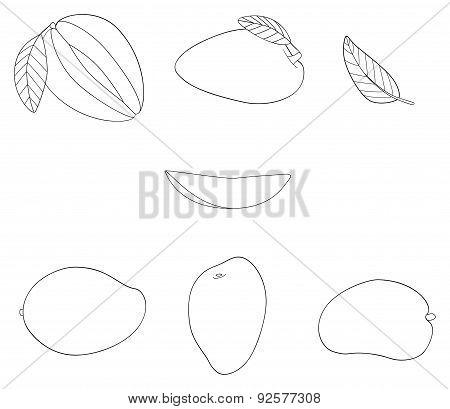 Delightful garden - Set of five mangos