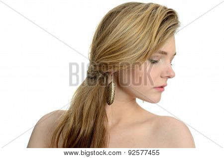 Side Portrait With Earring