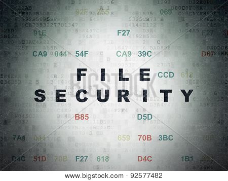 Security concept: File Security on Digital Paper background