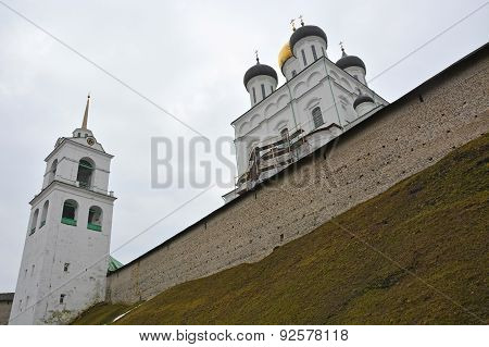 Russia- Pskov Kremlin With Famous Trinity Cathedral