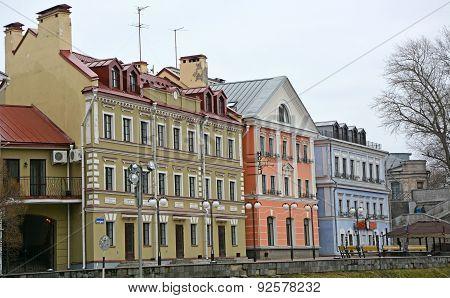 Golden Embankment -residential Area In Historical Place In Pskov At The Pskova River