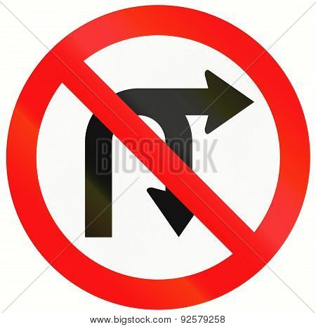 No U-turn Or Right Turn In Indonesia