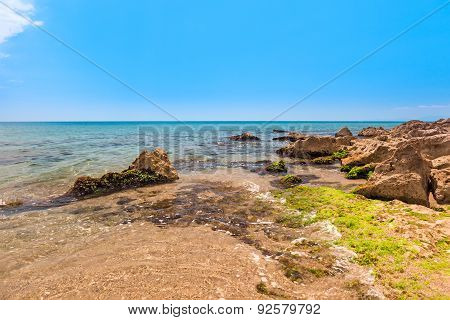 Stones on a background of sea with