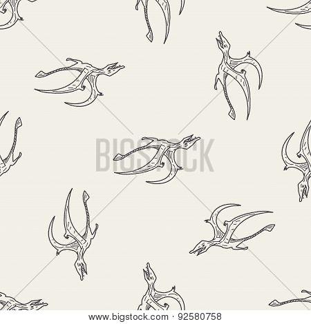 Pterodactyl Dinosaur Doodle