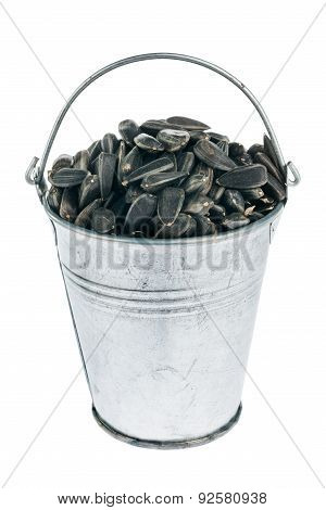 Bucket With Sunflower Seeds