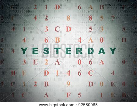 Time concept: Yesterday on Digital Paper background