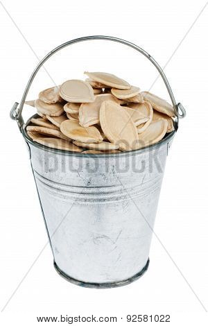 Bucket With Pumpkin Seeds