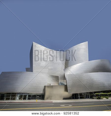 Los Angeles, CA, USA,  June 2nd,2015  Frank Gehry's modern architectural design of the Walt Disney Concert Cente