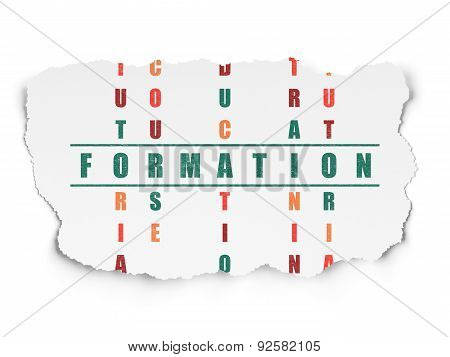 Education concept: word Formation in solving Crossword Puzzle