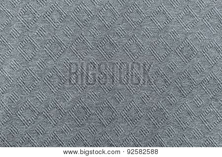 Knitted Textured A Herringbone Of Gray Color