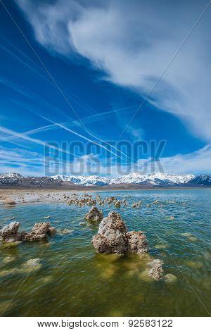 Vertical View Of Mono Lake
