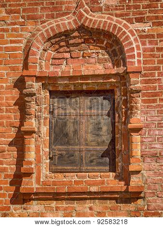 Fragment Of A Brick Wall With A Window