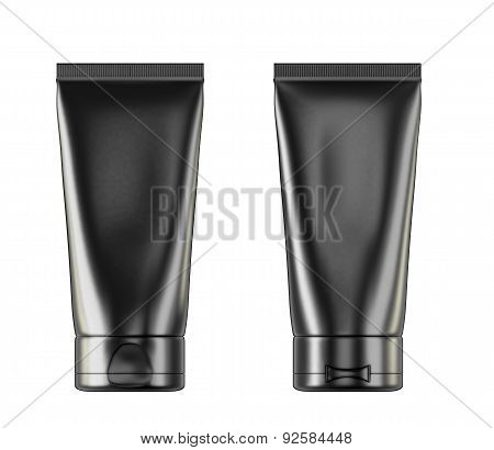 Tube Of Cream Or Gel Black Clean