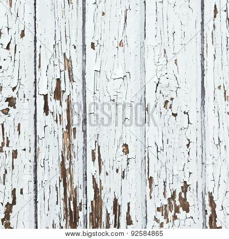 White Peeled Planks