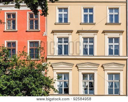 Facades of ancient tenements
