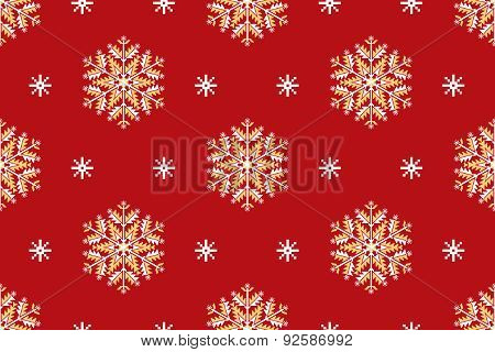 Vector seamless patter element with elegant snowflakes. Nice background for  Christmas and New Year