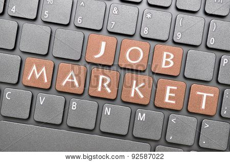 Job market key on keyboard