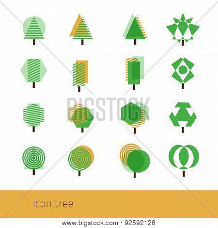 Vector Icon Tree Yellow