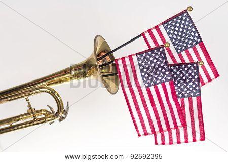 American Flag Trumpet