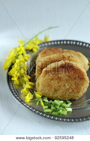 vegan potato cutlets