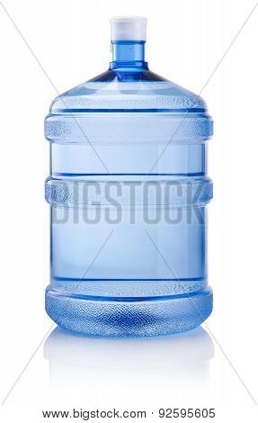 .big Bottle Of Water Isolated On White Background