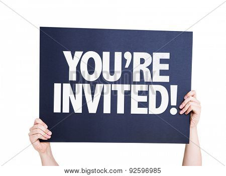 You're Invited! card isolated on white