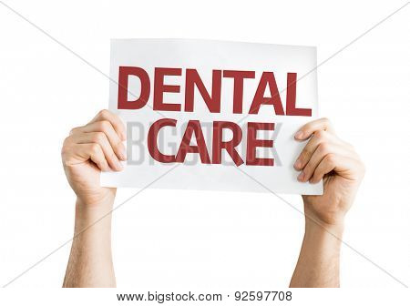 Dental Care card isolated on white
