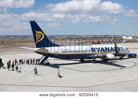 Ryanair Airplane Boarding