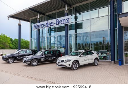 Office Of Official Dealer Mercedes-benz. Mercedes-benz Is A German Automobile Manufacturer