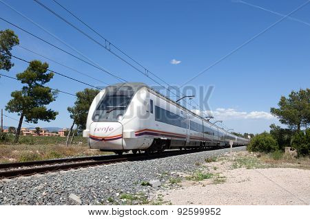 Passenger Train in Spain
